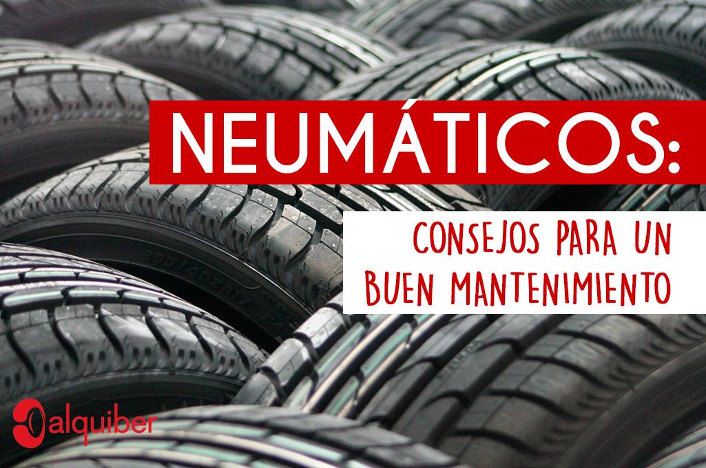 Neumáticos: 5 consejos para un buen mantenimiento