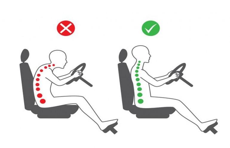 Trucos para sentarse correctamente al volante