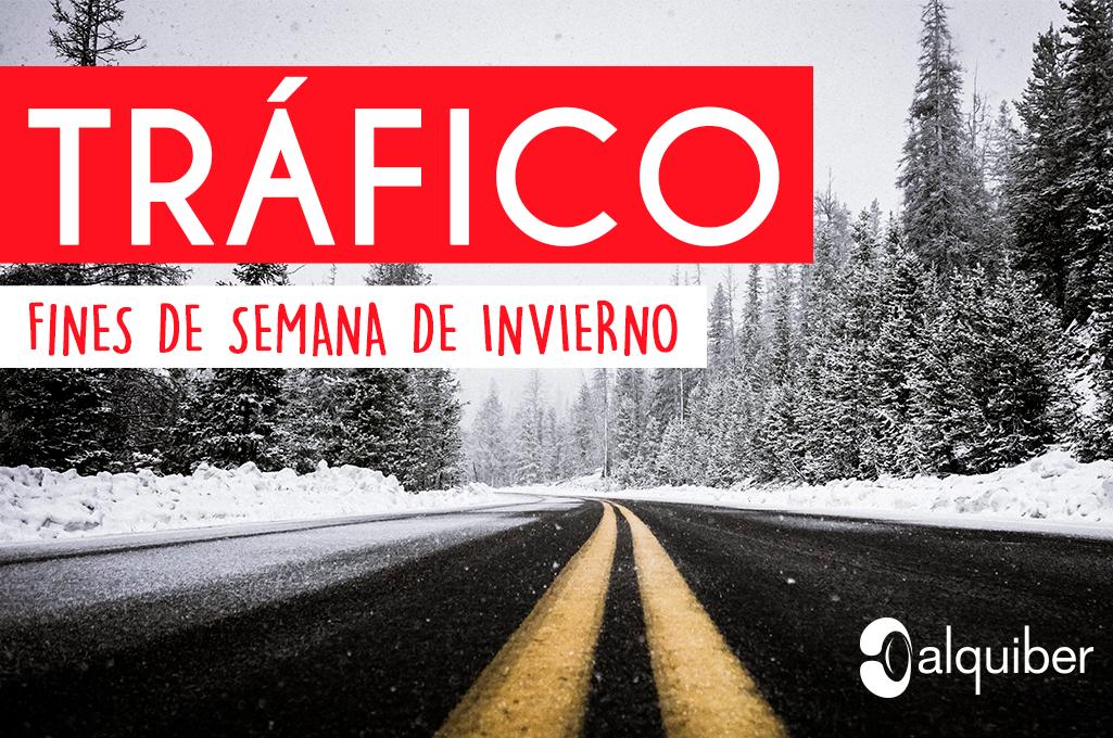 Previsiones de tráfico para los fines de semana de invierno