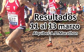 Resultados del fin de semana para Alquiber-A.D.Marathon (11-13 marzo)