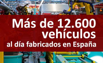 España fabrica más de 12.600 vehículos al día