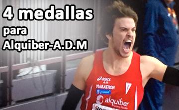 Cuatro medallas para Alquiber-A.D.Marathon