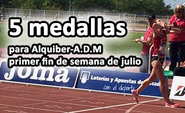 Alquiber – ADM comienza julio con cinco medallas