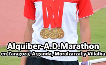 Gran presencia del Club Alquiber-A.D.M en Zaragoza, Moralzalral, Arganda y Villalba