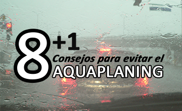 8+1 consejos para evitar el aquaplaning