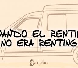 Cuando el renting no era renting