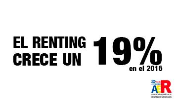 El renting crece un 19% en 2016