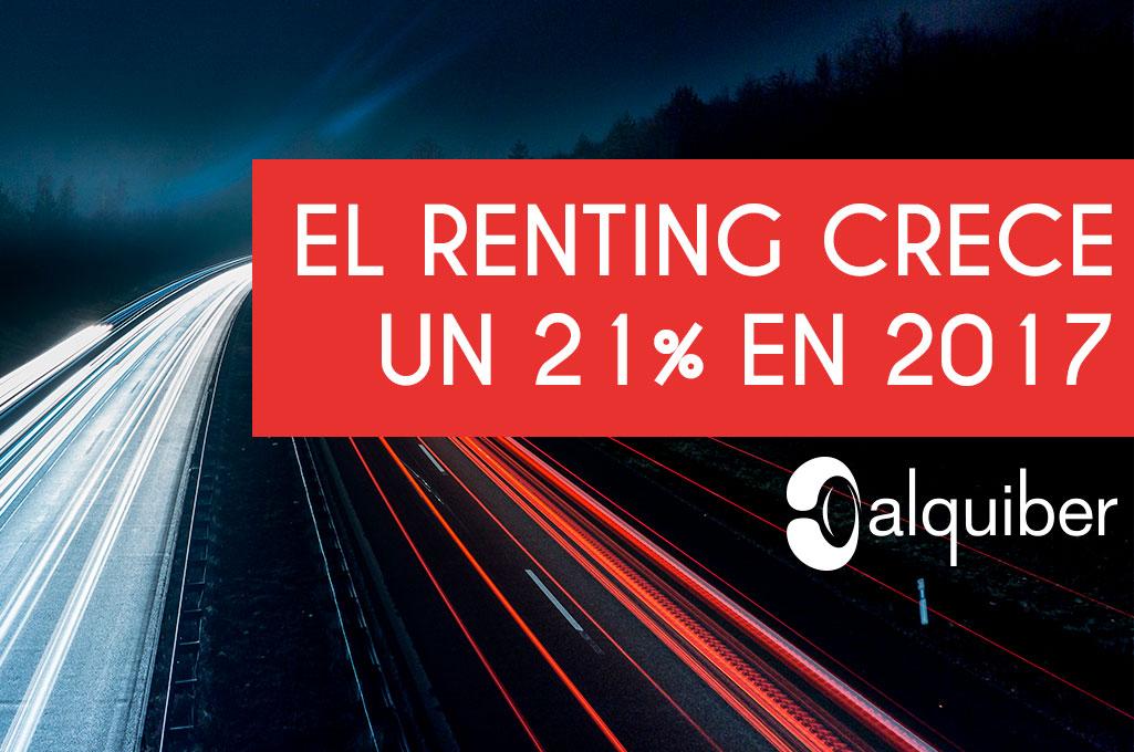 El renting crece un 21% en 2017