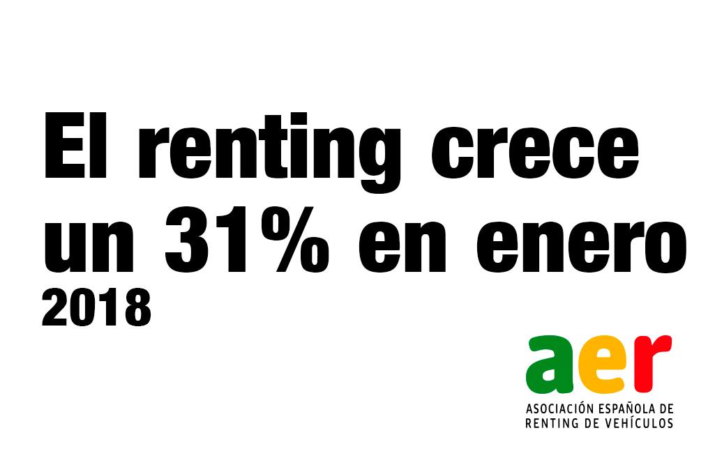 Las matriculaciones de renting se crecen un 30,53% en enero
