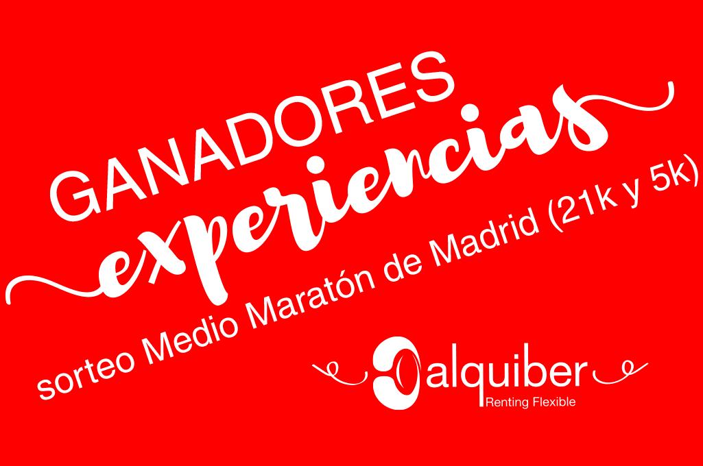 Ganadores sorteo experiencias Medio Maratón de Madrid 2018