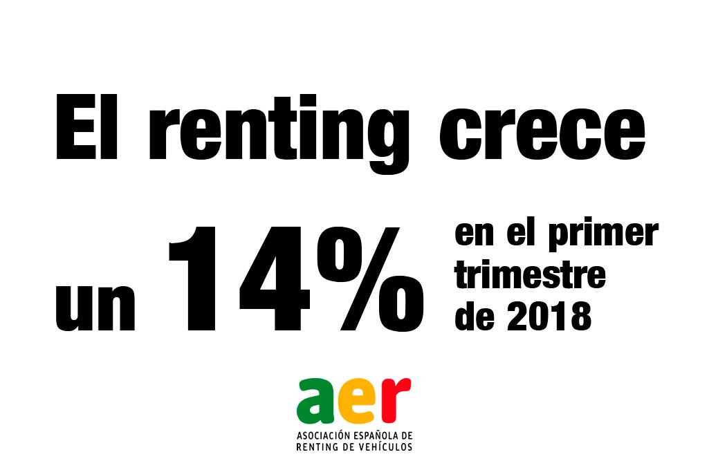 crecimiento renting primer trimestre 2018