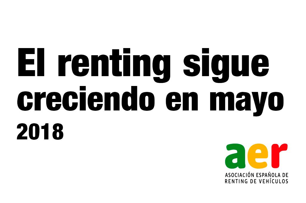 El renting sigue creciendo en mayo