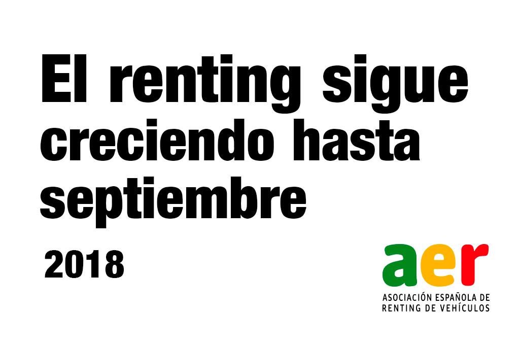 El renting crece más de un 10% hasta septiembre
