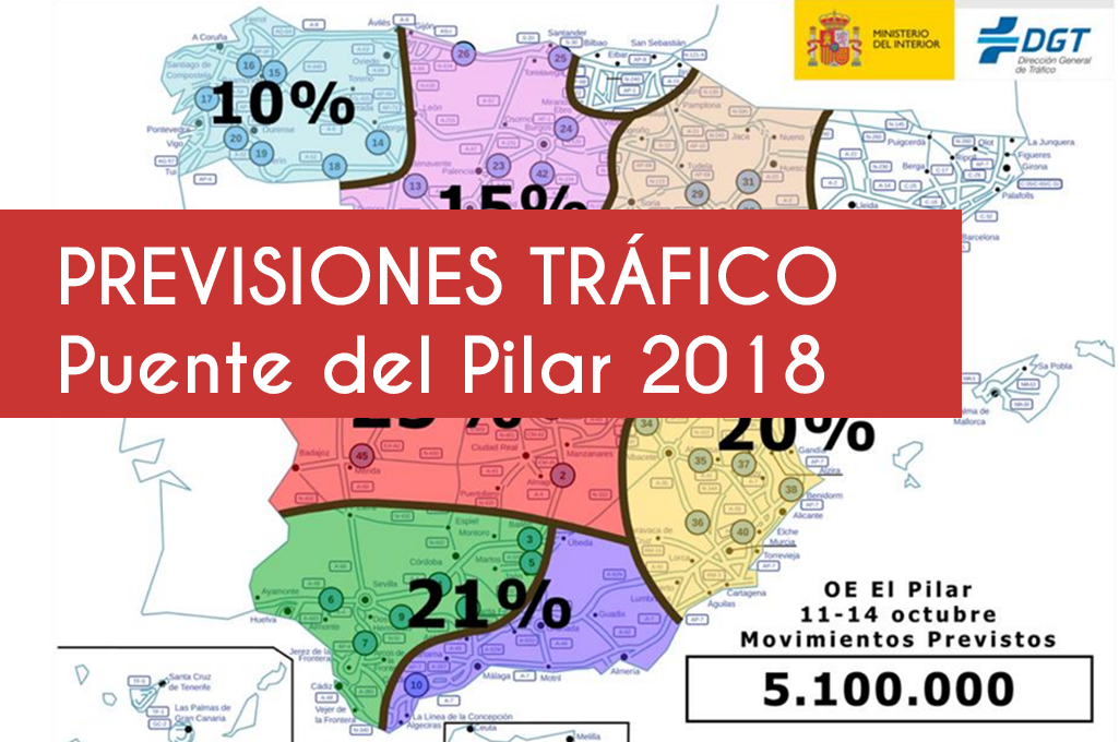 Previsiones de tráfico para el puente del Pilar 2018