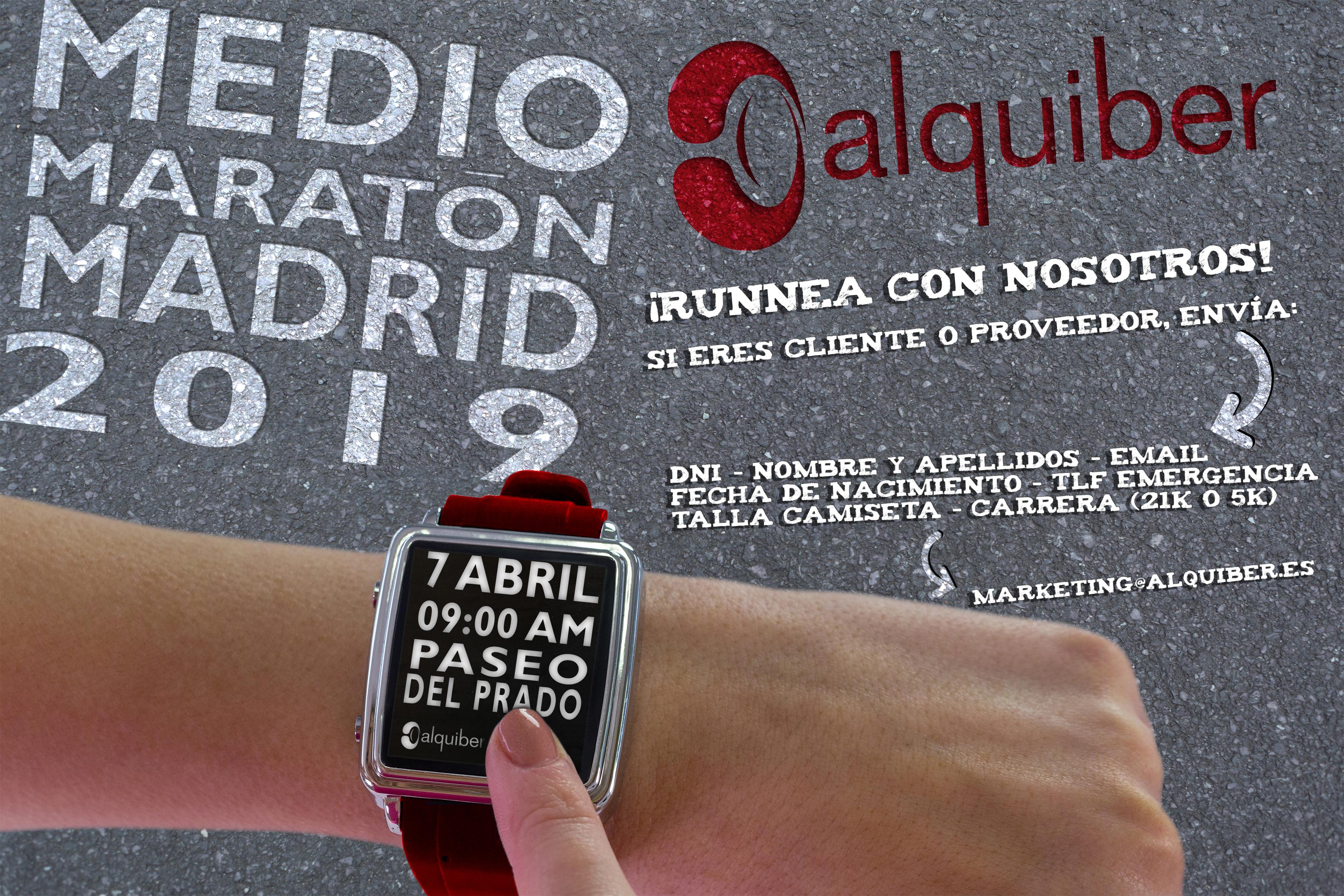 Alquiber estará un año más en el Medio Maratón de Madrid 2019
