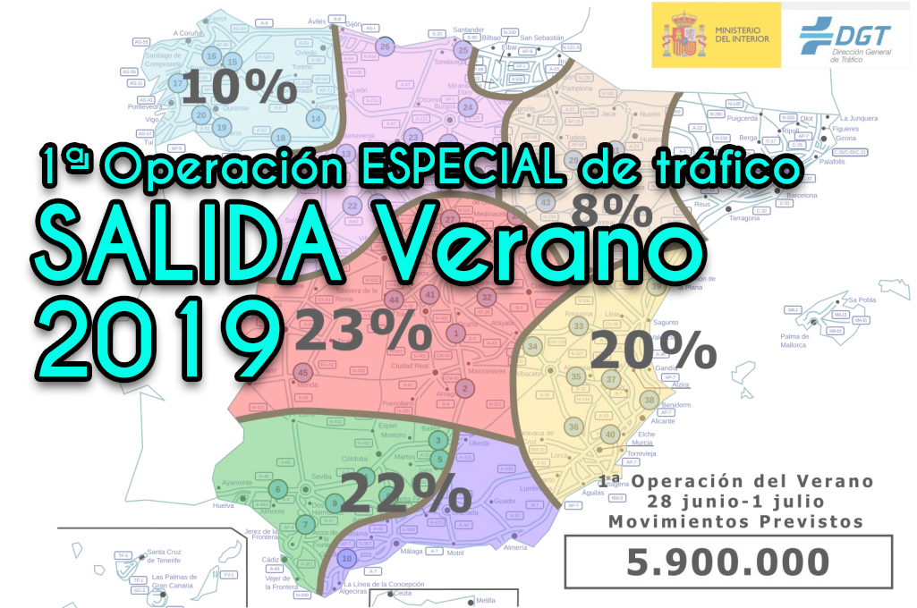 1ª Operación Salida verano 2019