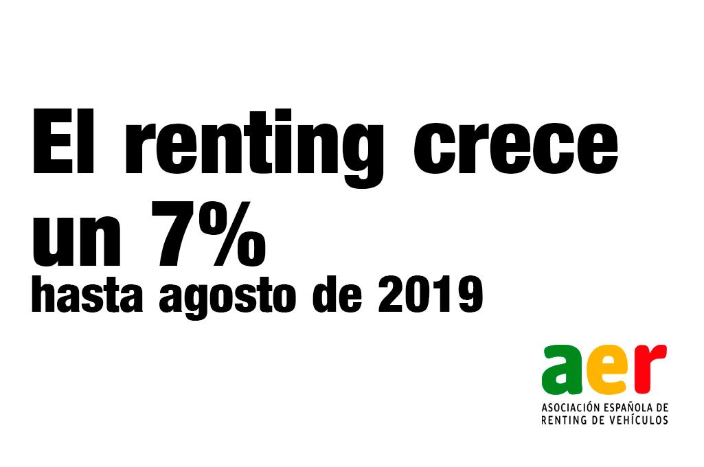 crecimiento renting agosto 2019