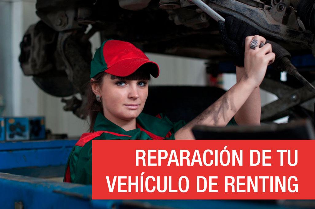 Reparación de tu vehículo de renting