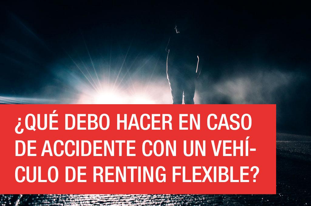 ¿Qué hacer en un accidente con un vehículo de Renting Flexible?