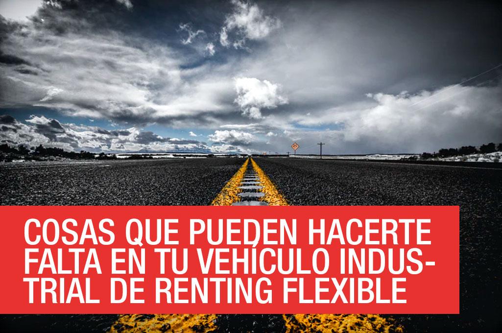 Accesorios para tu vehículo industrial de renting flexible