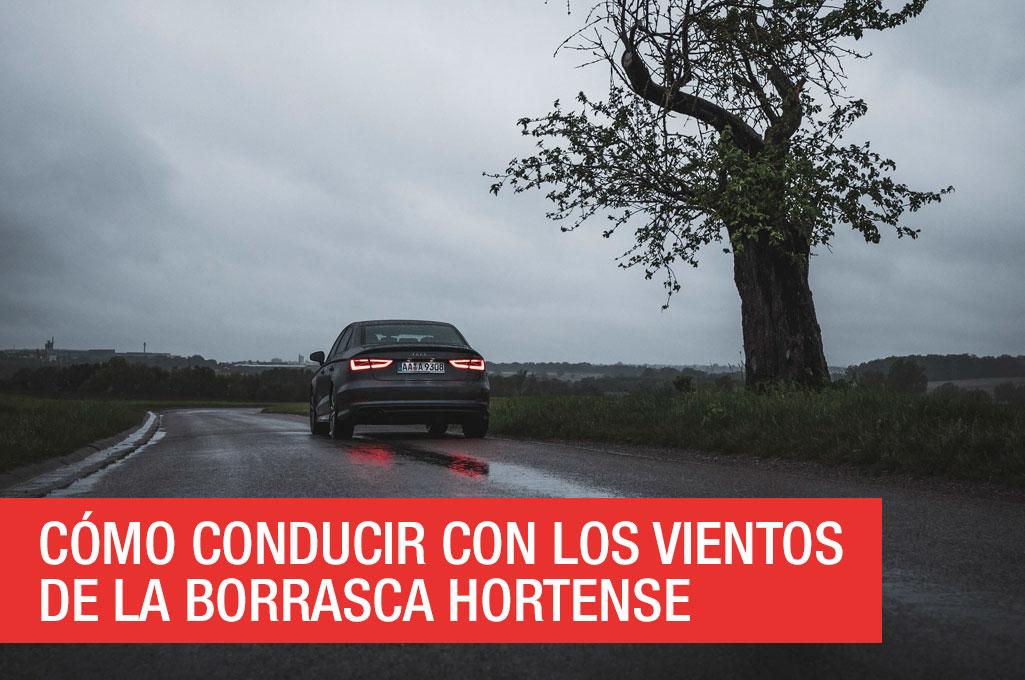 Cómo conducir con los vientos de la borrasca Hortense